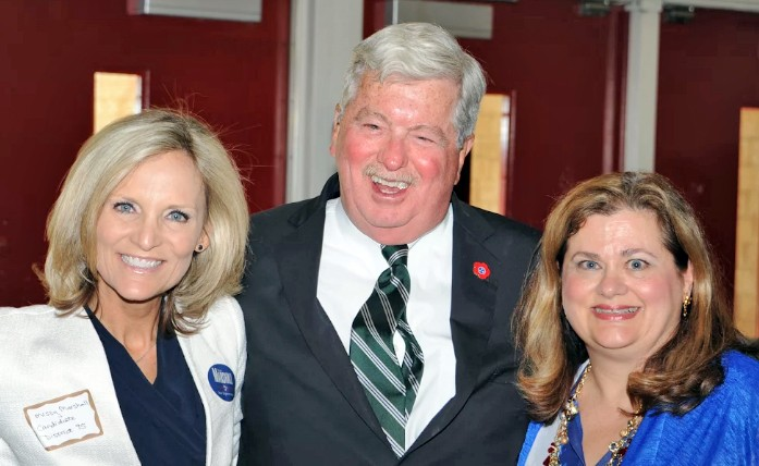 Candidate Missy Marshall, Tennessee Lt. Gov. Randy McNally (who came from Nashville to host a Marshall funhdraiser), and TNA co-host Connie McCarter. (Marshall's fundraiser overlapped with the forum; she was able to make an opening statement and field one question.) - JIM MCCARTER