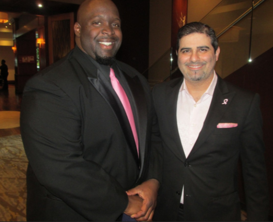 Marcus Bell and Romeo Khazen at Susan B. Komen - MICHAEL DONAHUE