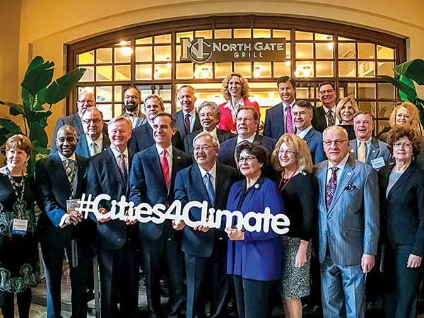 The so-called Climate Mayors issued a letter in support of - the Paris Agreement.