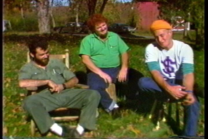 The Minutemen in 1985: Mike Watt, D. Boone, and George Hurley