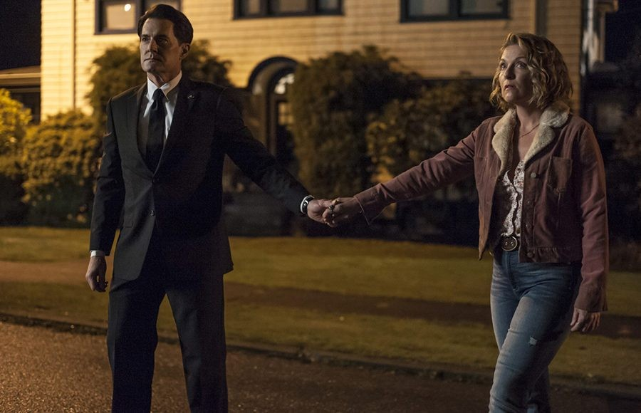 Agent Cooper leads Carrie (Sheryl Lee) towards their fate during the climax of Twin Peaks: The Return.