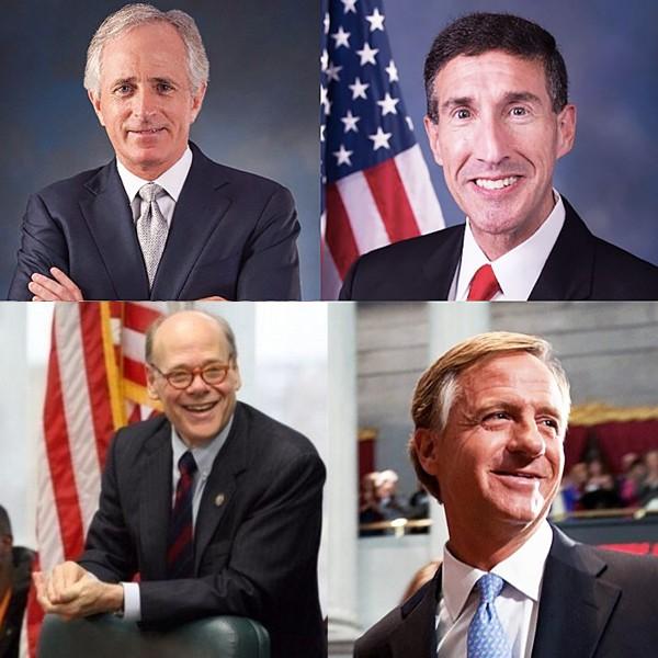 Corker, Kustoff, Haslam, & Cohen (clockwise)