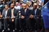 (left to right) J.B. Bickerstaff, Dave Fizdale, Keith Smart