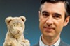 Daniel Tiger (left) and Fred Rogers, star of <i>Mr. Rogers' Neighborhood</i>