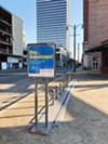 A Downtown bike-share station