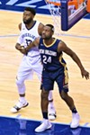 Tyreke Evans and Tony Allen, in a photo that will never stop looking weird to me