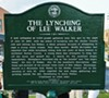 The Lynching Sites Project's  marker for Lee Walker