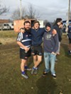Joe Temple, Spencer Hansen and Colby McKinney were at the Memphis Blues Rugby Club season opener.