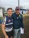 John Elmore and Dawson Pappas at the Memphis Blues Rugby Club season opener.