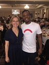 "Katie Smythe and Charles ""Lil Buck"" Riley at the New Ballet Ensemble & School luncheon."