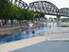 Water park feature in Louisville's Waterfront Park.