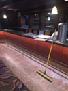 The bar  for the new lounge in the basement of 3rd & Court Diner will be painted gold.