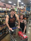 Edgar Bounds and Desiree Ramacus-Bushnell at Kroger on Mendenhall