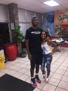 Jay Knight and Orlandria Harper at Gibson's Donuts