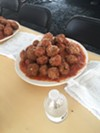 A plate of meatballs before the contest began at Breakaway Bardog 5K & Monroe Avenue Festival