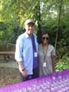 Kevin Sharp and Chantal Drake at Art on the Rocks.