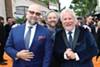Craig Brewer, Scott Alexander, and Larry Karaszewski at the Los Angeles premiere of <i>Dolemite Is My Name</i>