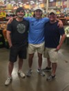 Samuel Degroff, Will Turner, Robert Tribble at the Kroger on Mendenhall.