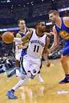 Mike Conley played a great first half last night before the Warriors completely overwhelmed the Grizzlies.
