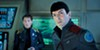 Anton Yelchin (left) as Chekov and Zachary Quinto as Spock in <i>Star Trek Beyond</i>