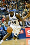 Zach Randolph's jersey number in this photo: also the maximum effort level he'll expend in a preseason game against the Sixers.