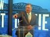 Union Pacific's Scott Moore at bridge ceremony