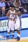 Z-Bo telling Deyonta Davis which guy he's about to pummel