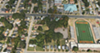 Aerial shows Melrose High School football stadium and the Orange Mound Community Center.