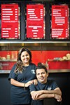 Hamida and Sunny Mandani  in the 901 Grille