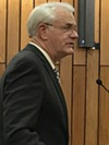 Luttrell pitching the Commission on Monday