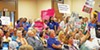 Disapproval of the GOP-dominated U.S. Senate's pending version of a bill to repeal and replace the Affordable Care Act was fairly clearly the message of the day at a packed assembly of health-care advocates on Saturday at the IBEW meeting hall on Madison. (See more in editorial, p. 8.)