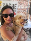 Christin Yates and Simba at Sache Sunday