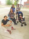 Paul Morquecho, Shirley Morquecho, Rebecca Garcia and Kera Shane at Downtown National Night Out.