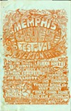 Original poster for the Memphis Country Blues Festival