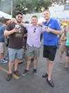 Alex Hogan, Alex Romanoff and Alain Gilles at Cooper-Young Beerfest.