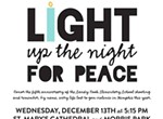 Light Up the Night for Peace Vigil and Dinner