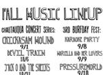 Fall Music Lineup