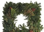 Fresh Square Wreaths Embellished with Natural Elements