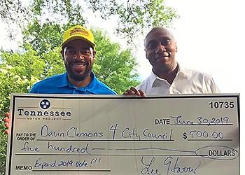 Lee Harris Endorses Council Candidate Davin Clemons