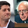 Paul Ryan and Bernie Sanders