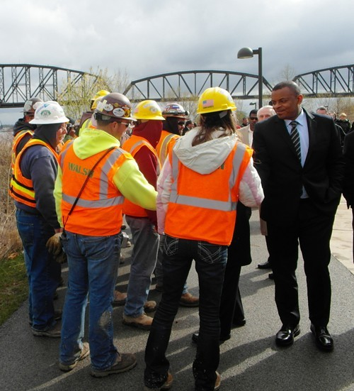 U.S. DOt Secretary Anthony Foxx on a Tuesday stop for the bus tour that rolls into Memphis Friday.