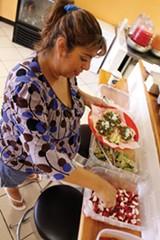Veronica Volanos at Tacos Borolas