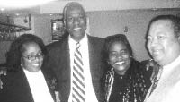 Victorious judges Gwen Rooks, Carolyn Blackett, and Tony Johnson at a fund-raiser with Memphis mayor Willie Herenton. - JACKSON BAKER