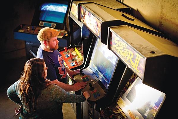 Vintage arcade games at the Rec Room - JUSTIN FOX BURKS