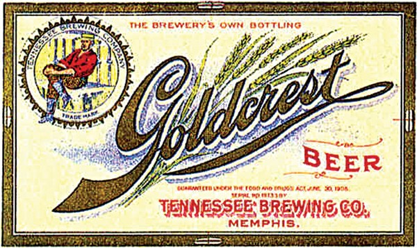 Vintage brewing labels from Tennessee Brewing Co.