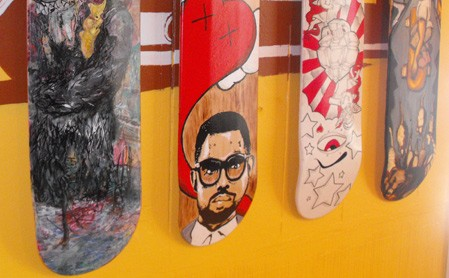 We Recommend: Spring Board 2009. 25 visual artists will be displaying original art on skateboard decks.