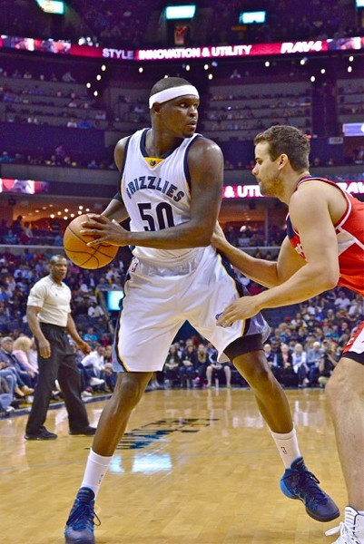 Zach Randolph attempted 5 field goals in the Grizzlies' loss to Washington. - LARRY KUZNIEWSKI