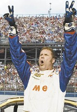 Will Ferrell gets gonzo again, as NASCAR driver Ricky Bobby, but this time the laughs don't come as easy.