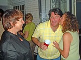 JB - Winner Richardson gives campaign manager David Upton a thank-you kiss while supporter Elizabeth Silverman looks on.