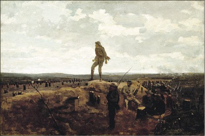 "Winslow Homer's Defiance: Inviting a Shot Before Petersburg (1864), on loan to the Dixon for the exhibit ""Bold, Cautious, True: Walt Whitman and American Art of the Civil War Era"""